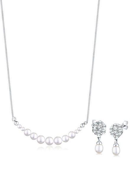Elli Schmuckset Perle Kristalle 925 Silber günstig online kaufen