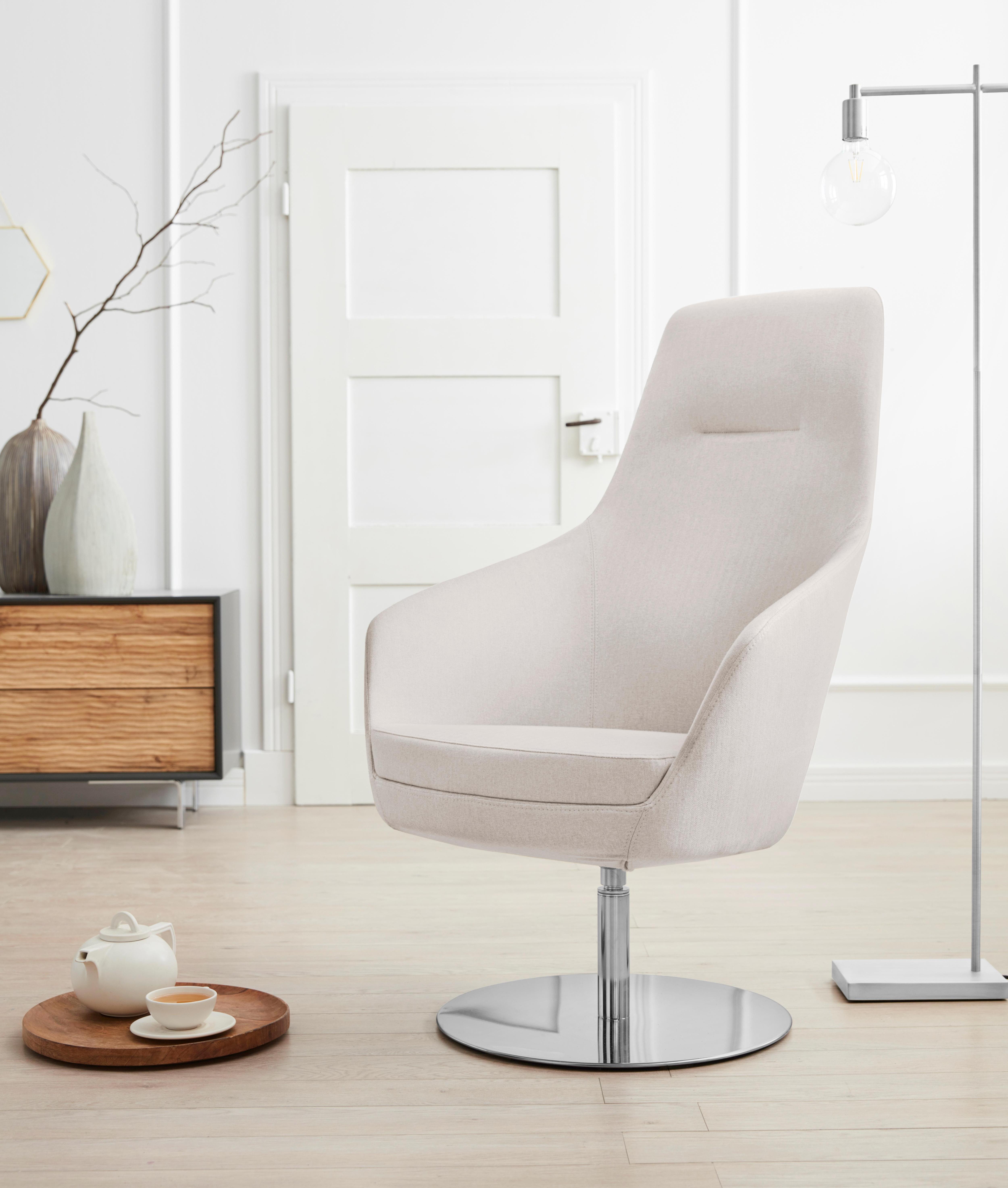 andas Drehstuhl Rina, mit Drehmechanik, auf rundem Fuß günstig online kaufen