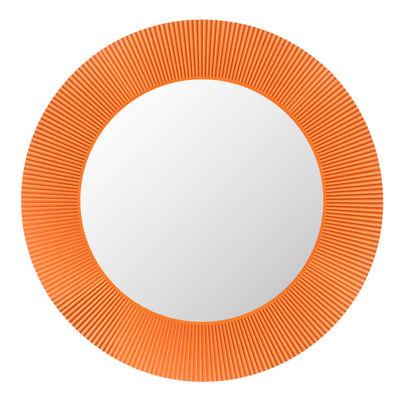 All Saints Spiegel leuchtend LED / Ø 78 cm - Kartell - Tangerine Orange günstig online kaufen