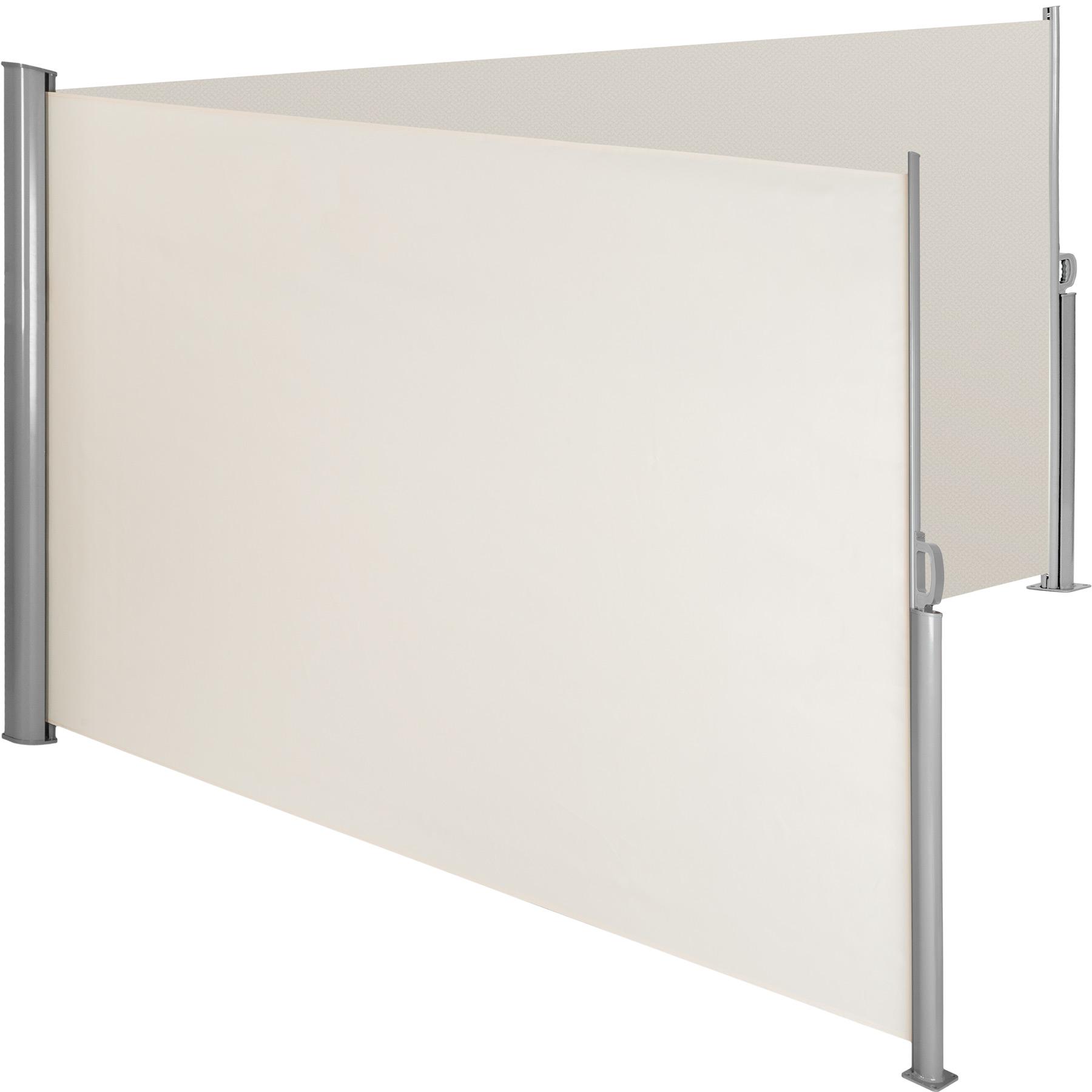 Aluminium Doppel Seitenmarkise - beige, 200 x 600 cm günstig online kaufen