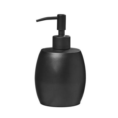amare® Seifenspender Kolbenpumpe Bauchig schwarz günstig online kaufen