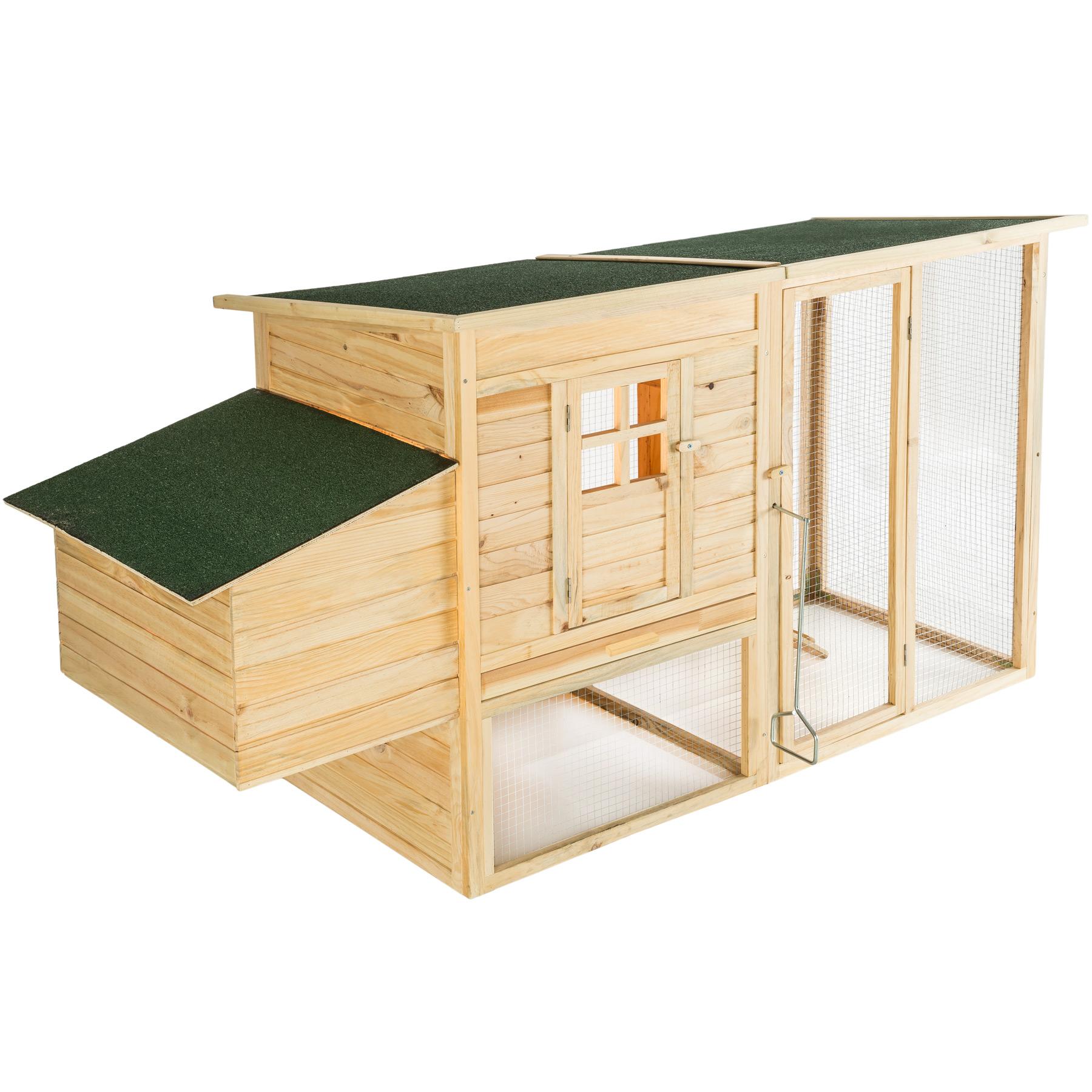 Kleintierstall aus Holz 198x75x102cm günstig online kaufen