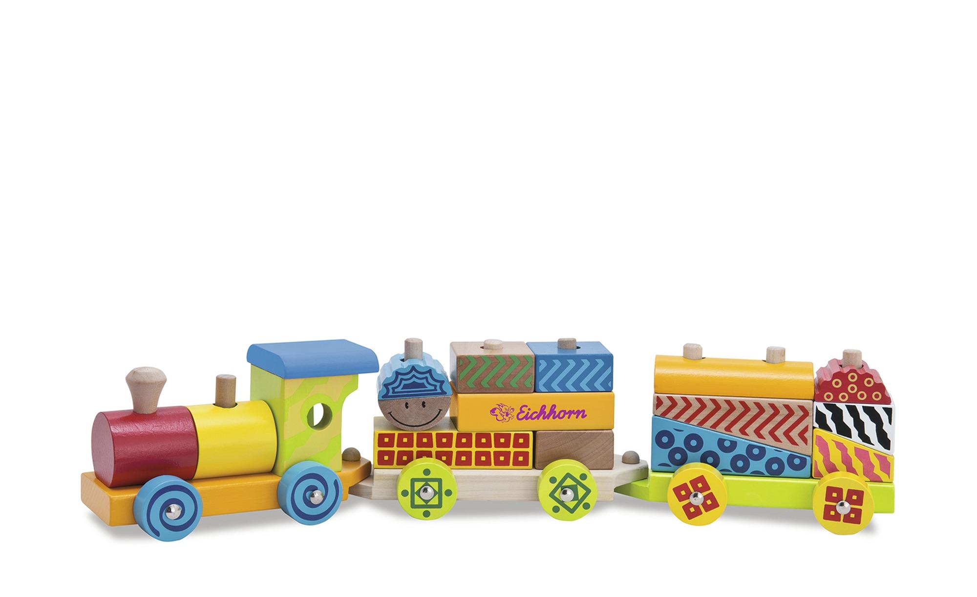 Eichhorn Holzzug  Color ¦ mehrfarbig ¦ Birke massiv, lackiert Baby > Spiele günstig online kaufen