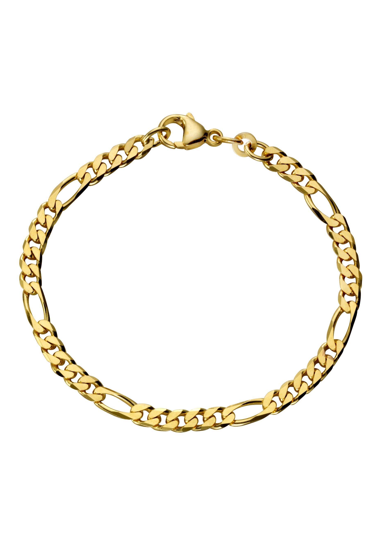Firetti Goldarmband in Figarokettengliederung, 4,3 mm, Made in Germany günstig online kaufen