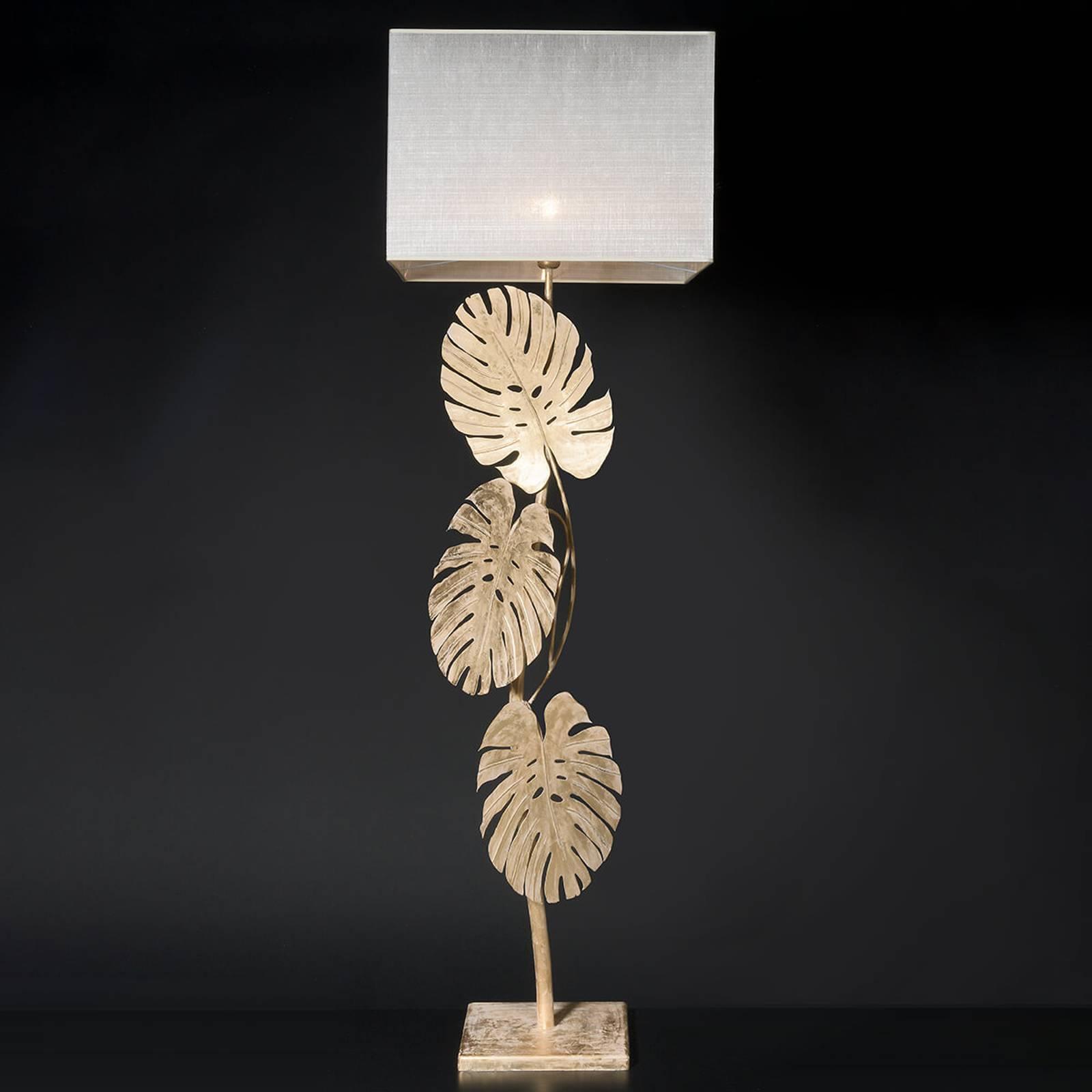 Designer-Stehlampe Lizia mit Blattgold günstig online kaufen