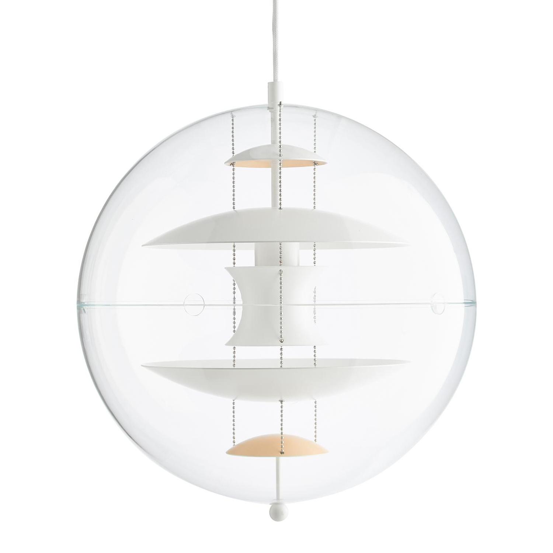 Verpan - VP Globe Peach Pendelleuchte - pfirsich/Ø 40cm/Kabel weiß günstig online kaufen