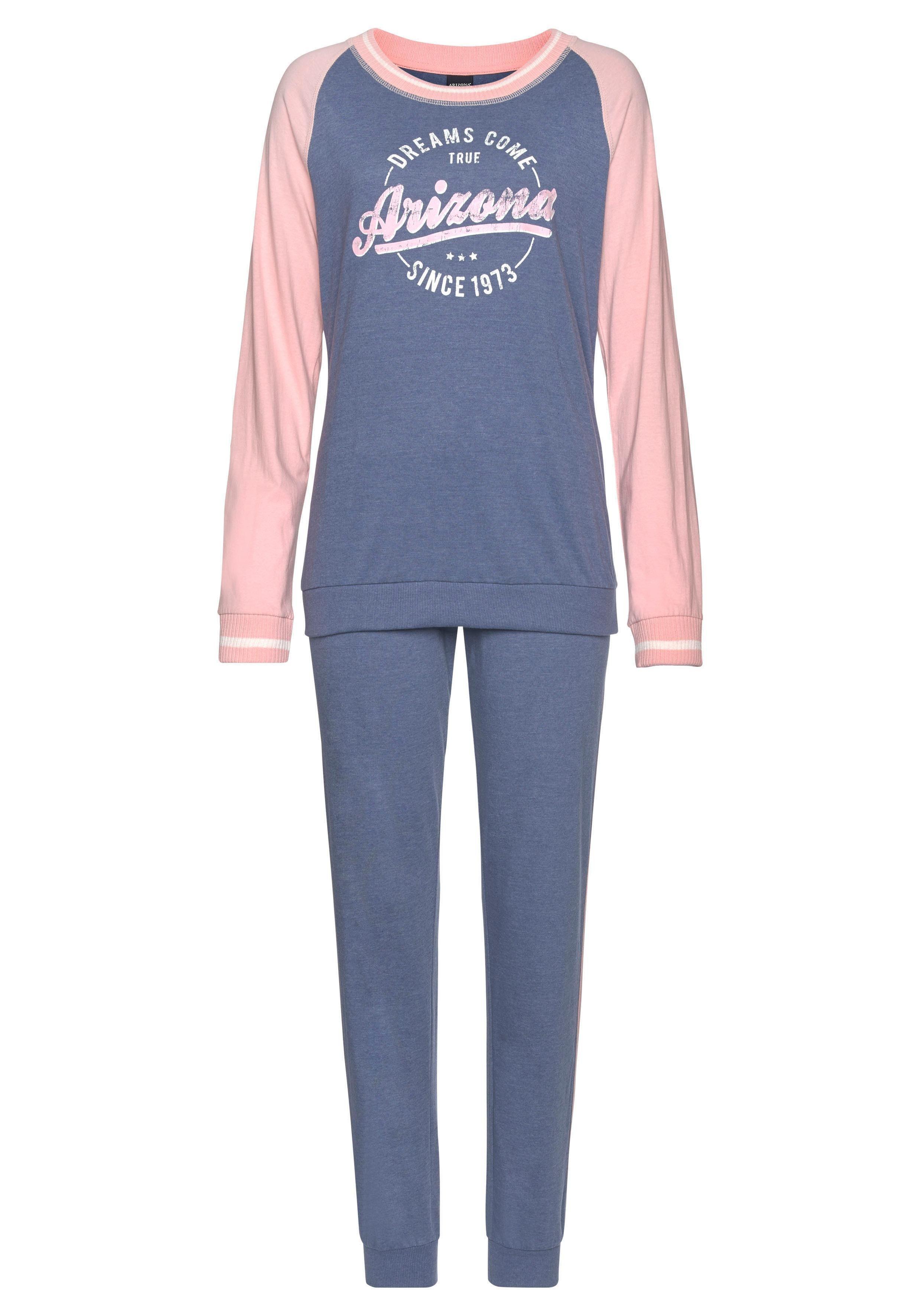 Arizona Pyjama im College-Look mit Folienprint günstig online kaufen