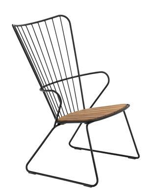 Paon Lounge Sessel / Metall & Bambus - Houe - Schwarz/Holz natur günstig online kaufen