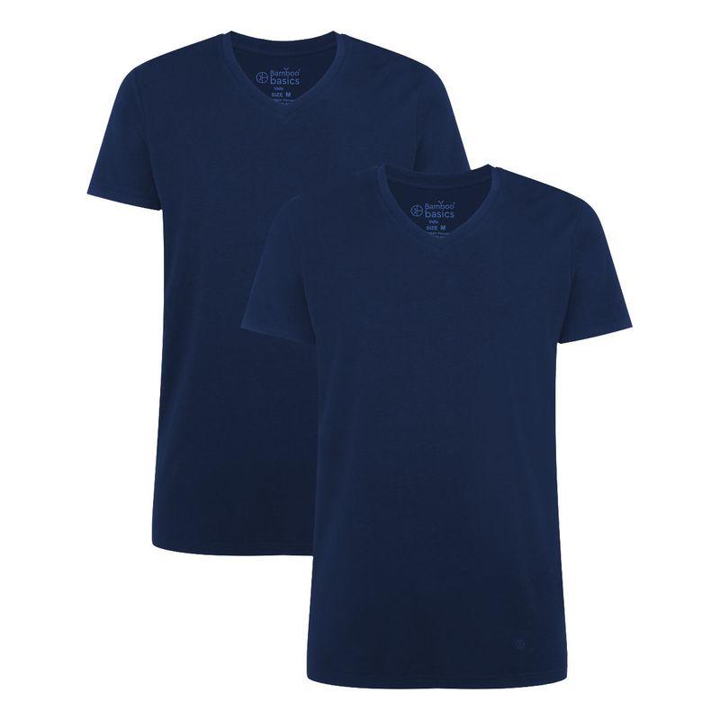 Bamboo basics Herren T-Shirt VELO, 2er Pack - Unterhemd, V-Neck, Single Jer günstig online kaufen