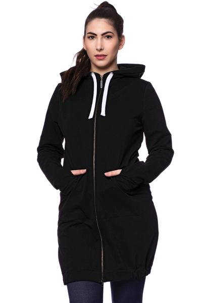 Jasper Milchshake® Woman Long Sweatjacke Aus Bio-baumwolle günstig online kaufen