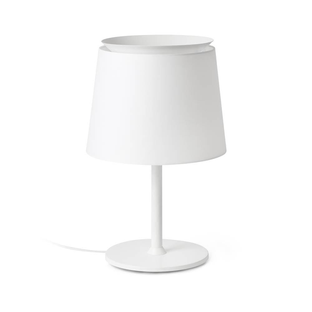 Faro Leuchten Savoy Weiß Tischlampe Weiß Schirm, 20304-82 günstig online kaufen