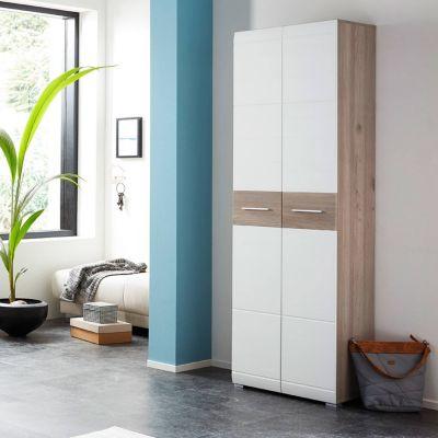 Garderobenschrank mit ausziehbarer Kleiderstange MENDOZA-01 Nelson Eiche we günstig online kaufen