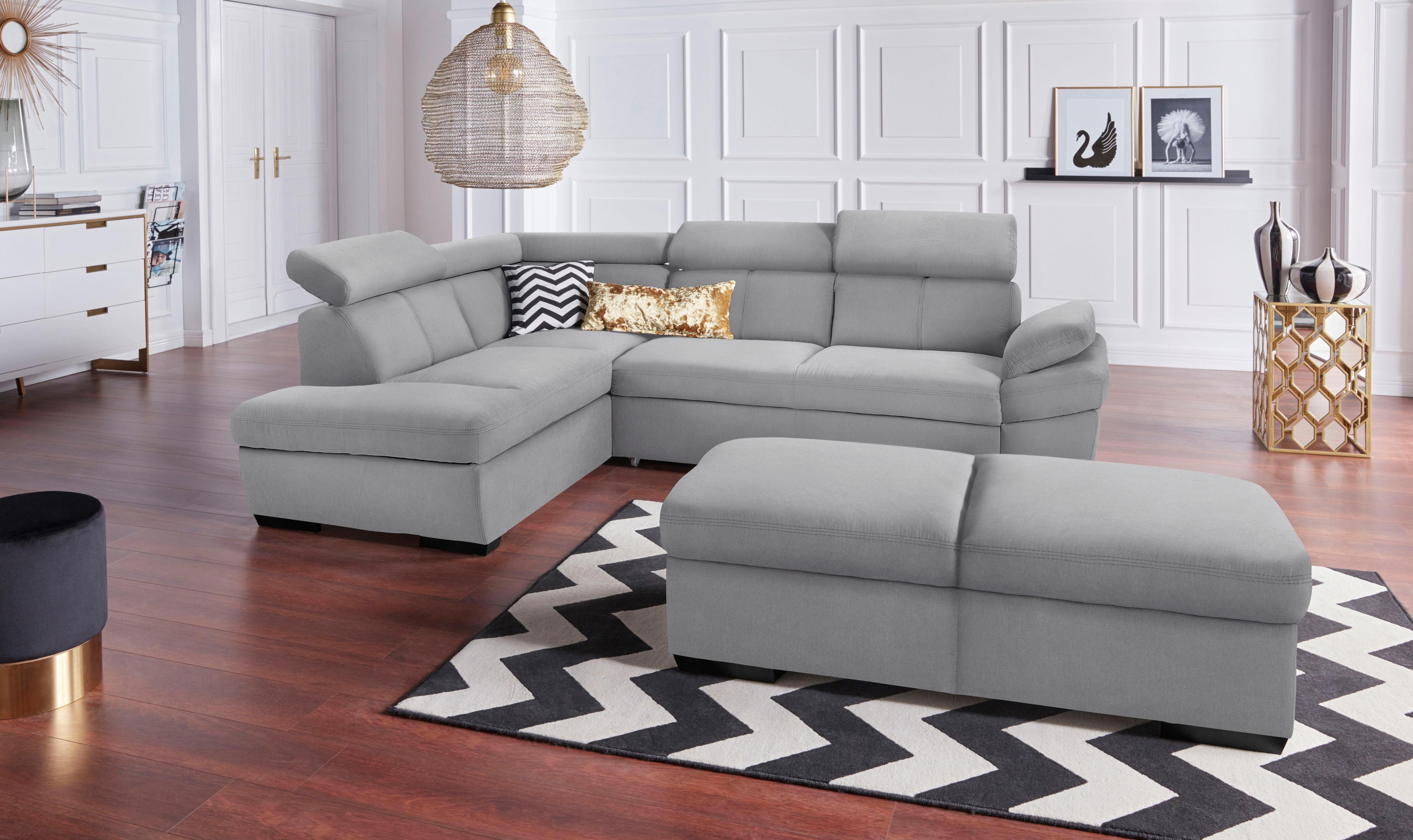exxpo - sofa fashion Ecksofa, inklusive Kopfteil- und Armteilverstellung, w günstig online kaufen