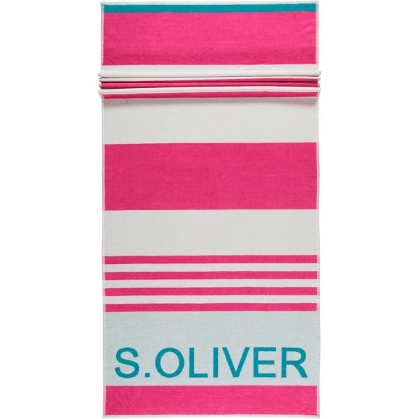 S.Oliver Strandtuch Streifen 3707 - 80x180 cm - Farbe: pink - 24 günstig online kaufen