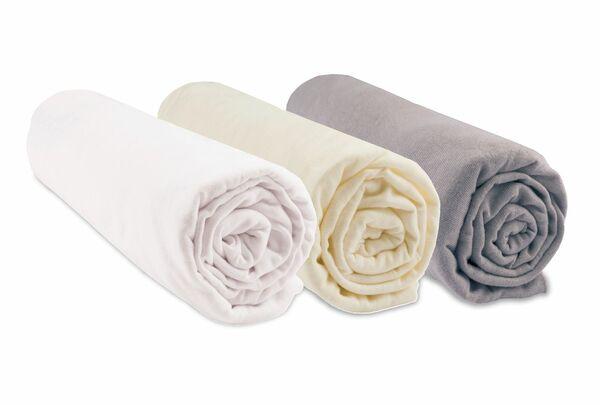 Kinder-spannbettlaken Aus Jersey Bio-baumwolle - 3 Stück günstig online kaufen