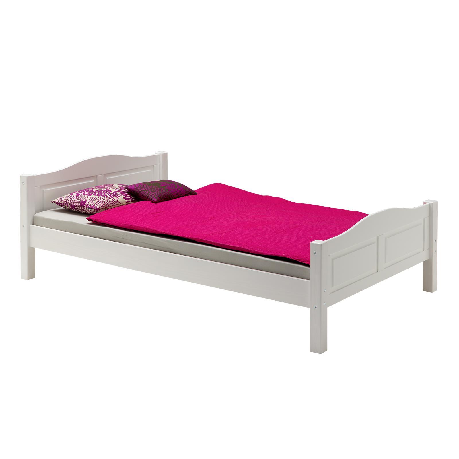 Bett Landhausbett HENRIK, 100x200 cm weiß günstig online kaufen