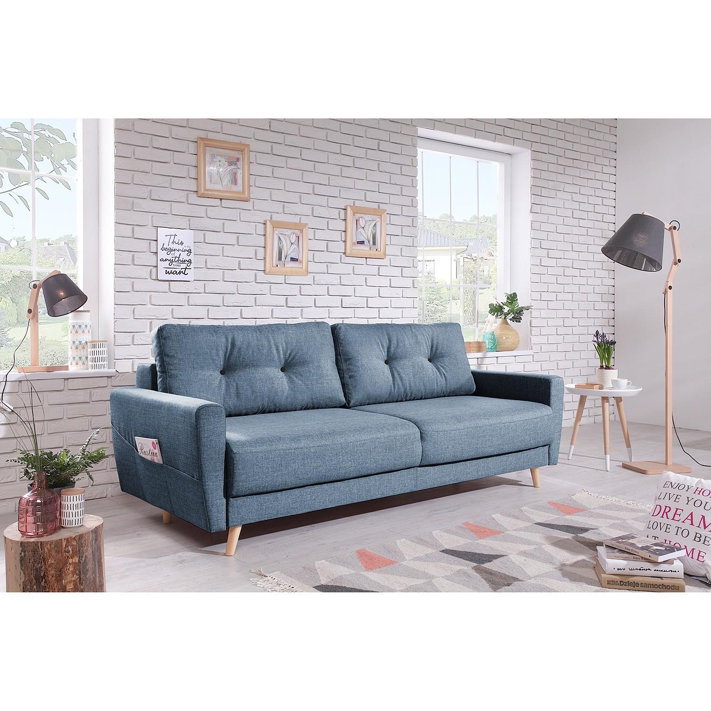 home24 Mørteens Sofa Sola 3-Sitzer Taubengrau Webstoff 215x90x90 cm günstig online kaufen