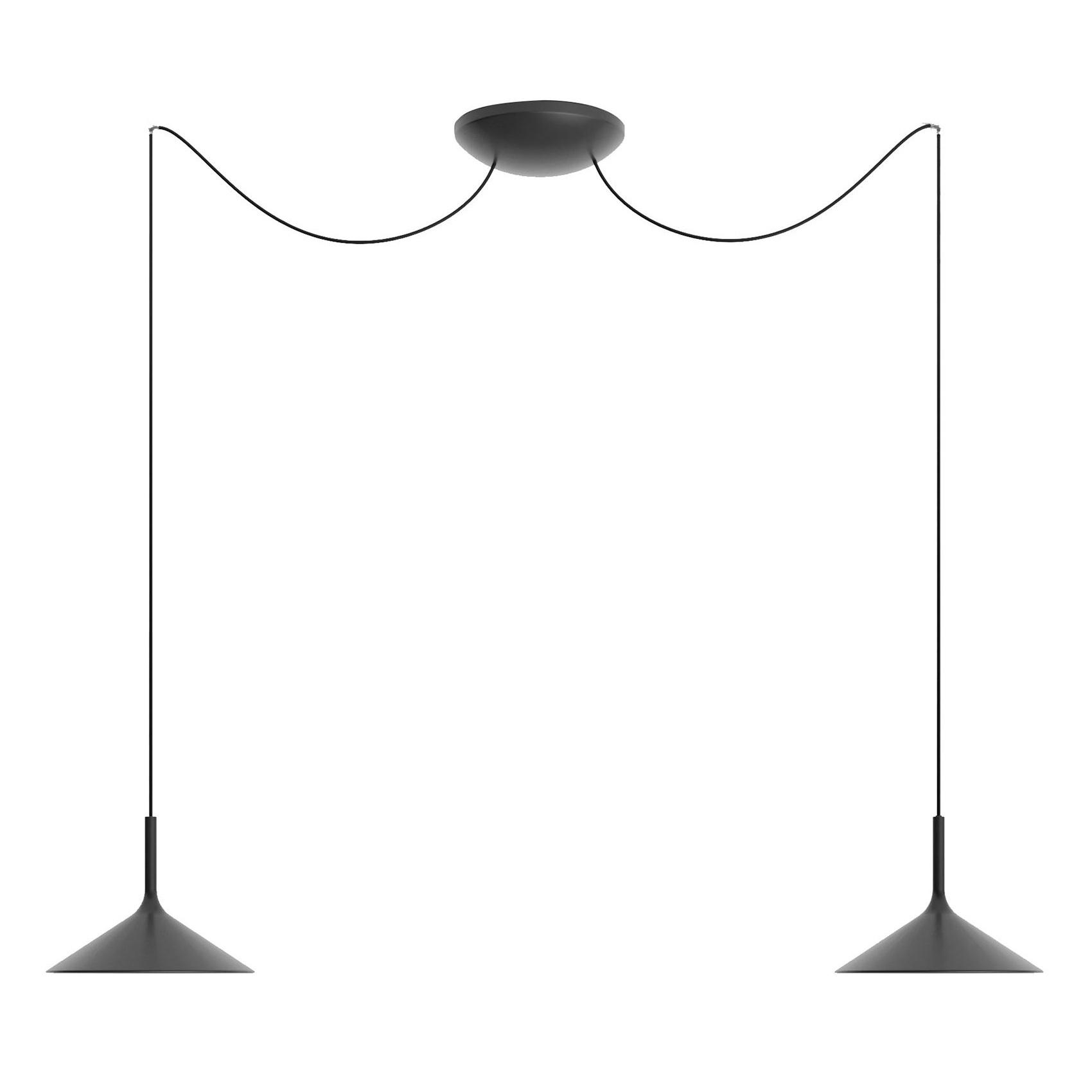 Rotaliana - Dry H2 LED Pendelleuchte - schwarz/matt/H 20cm / Ø 26,5cm/2700K günstig online kaufen