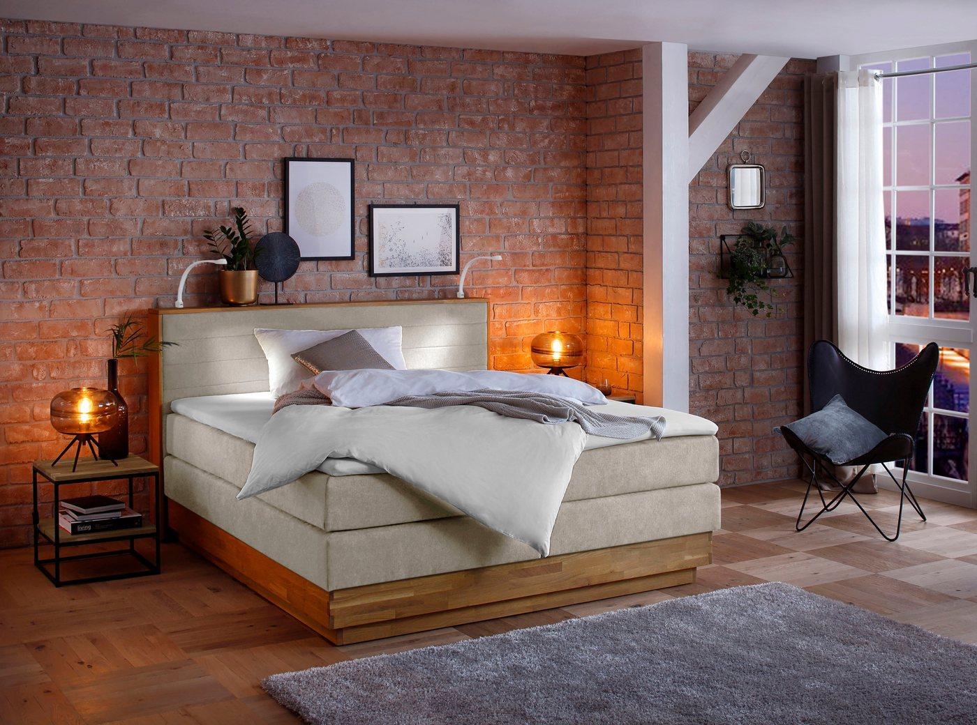 Ein Schlafmöbel mit stilvollem Design – das komfortable Boxspringbett »Cava günstig online kaufen