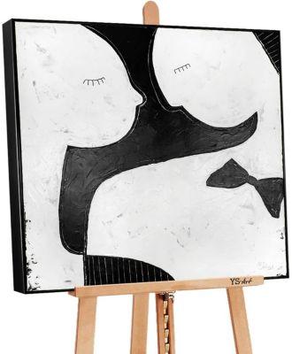 """YS-Art™ """"Gemälde Acryl """"""""Anziehung II"""""""" handgemalt auf Leinwand"""" schwarz Gr günstig online kaufen"""