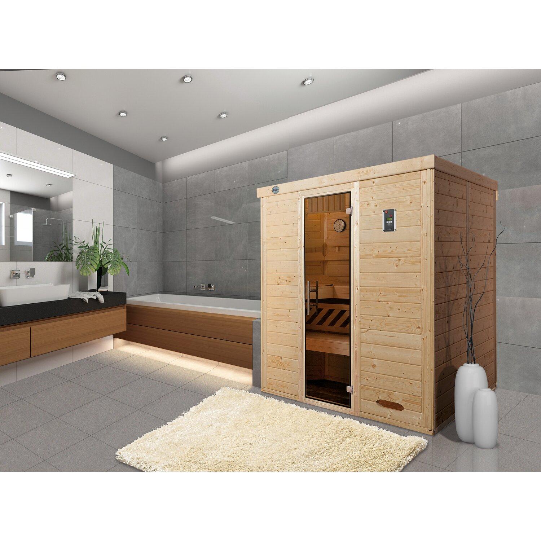 Weka Design-Sauna Kemi 4, Glastür günstig online kaufen