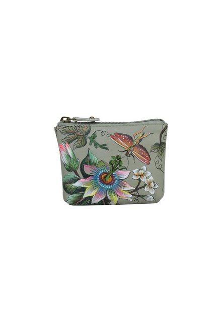 ANUSCHKA Mini Geldbörse »Floral Passion (Handbemaltes Leder)«, Münzbeutel günstig online kaufen