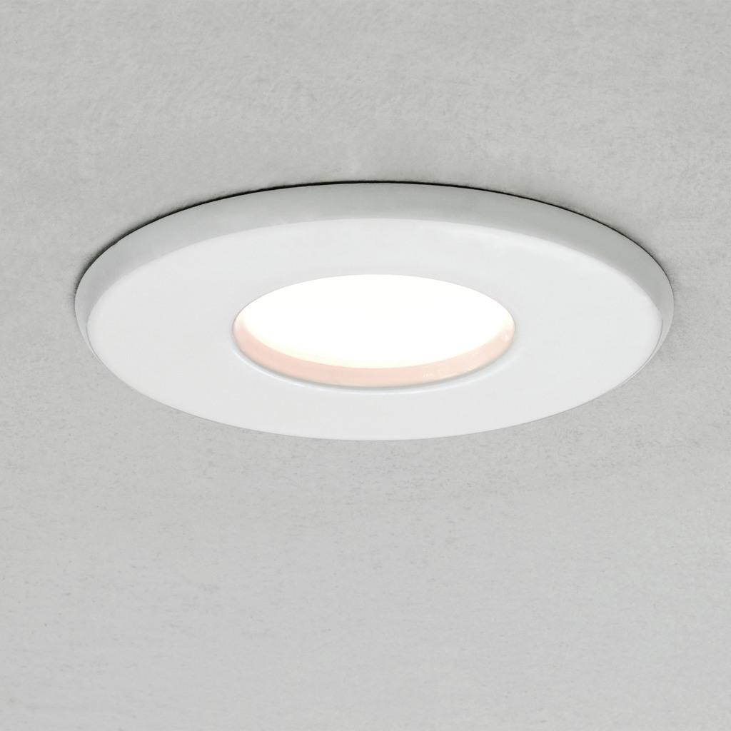 Astro Büro Deckeneinbauleuchten Kamo Ø 8, Weiß, Glas, Metall, 1236013 günstig online kaufen