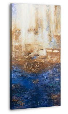 "YS-Art™ ""Gemälde Acryl """"Marine II"""" handgemalt auf Leinwand"" blau Gr. 120 günstig online kaufen"