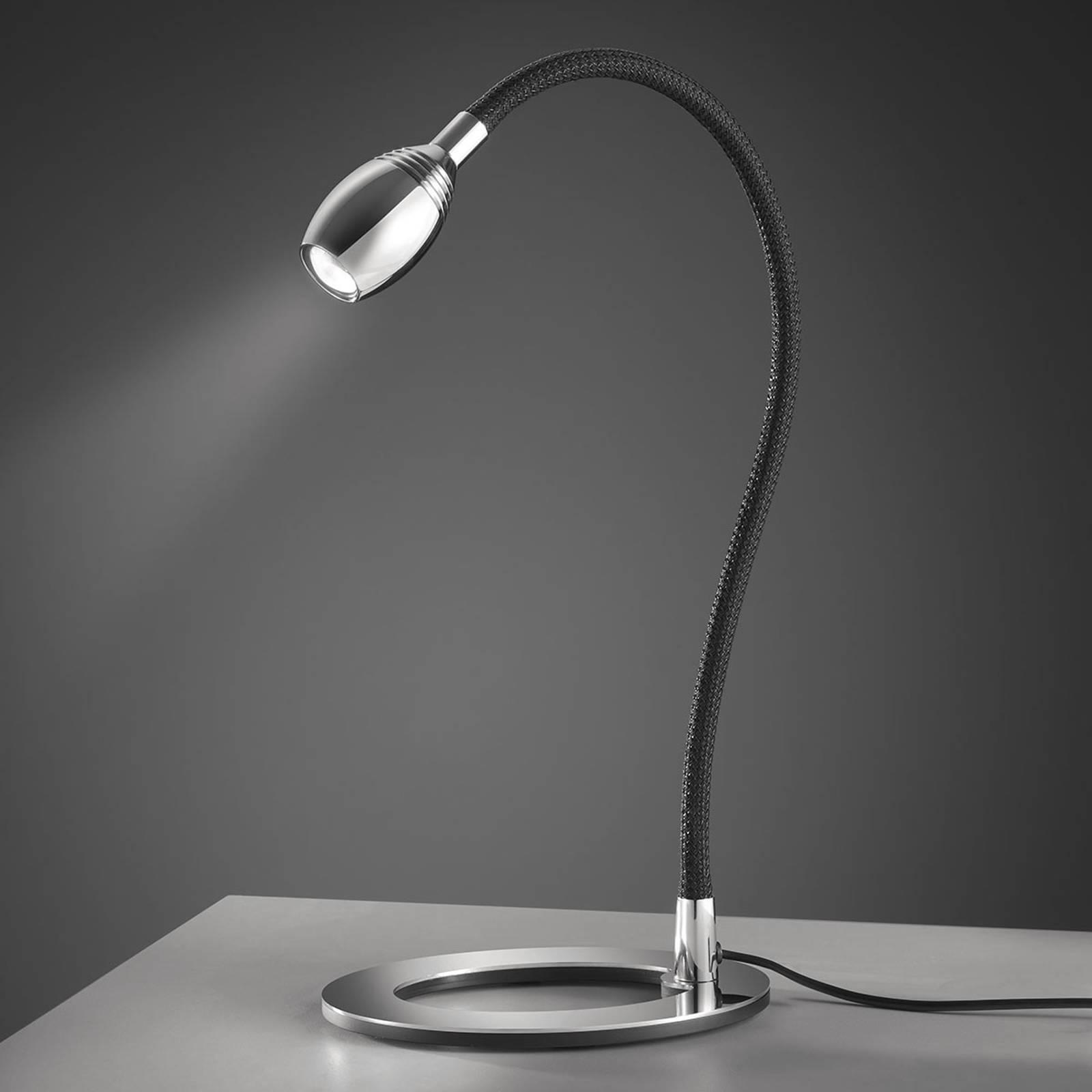 Baulmann 14.345 LED-Tischlampe Flexarm schwarz günstig online kaufen