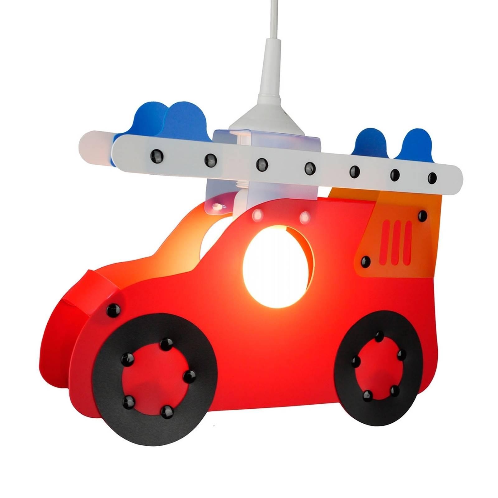 Kinderzimmer-Pendelleuchte Feuerwehrauto günstig online kaufen