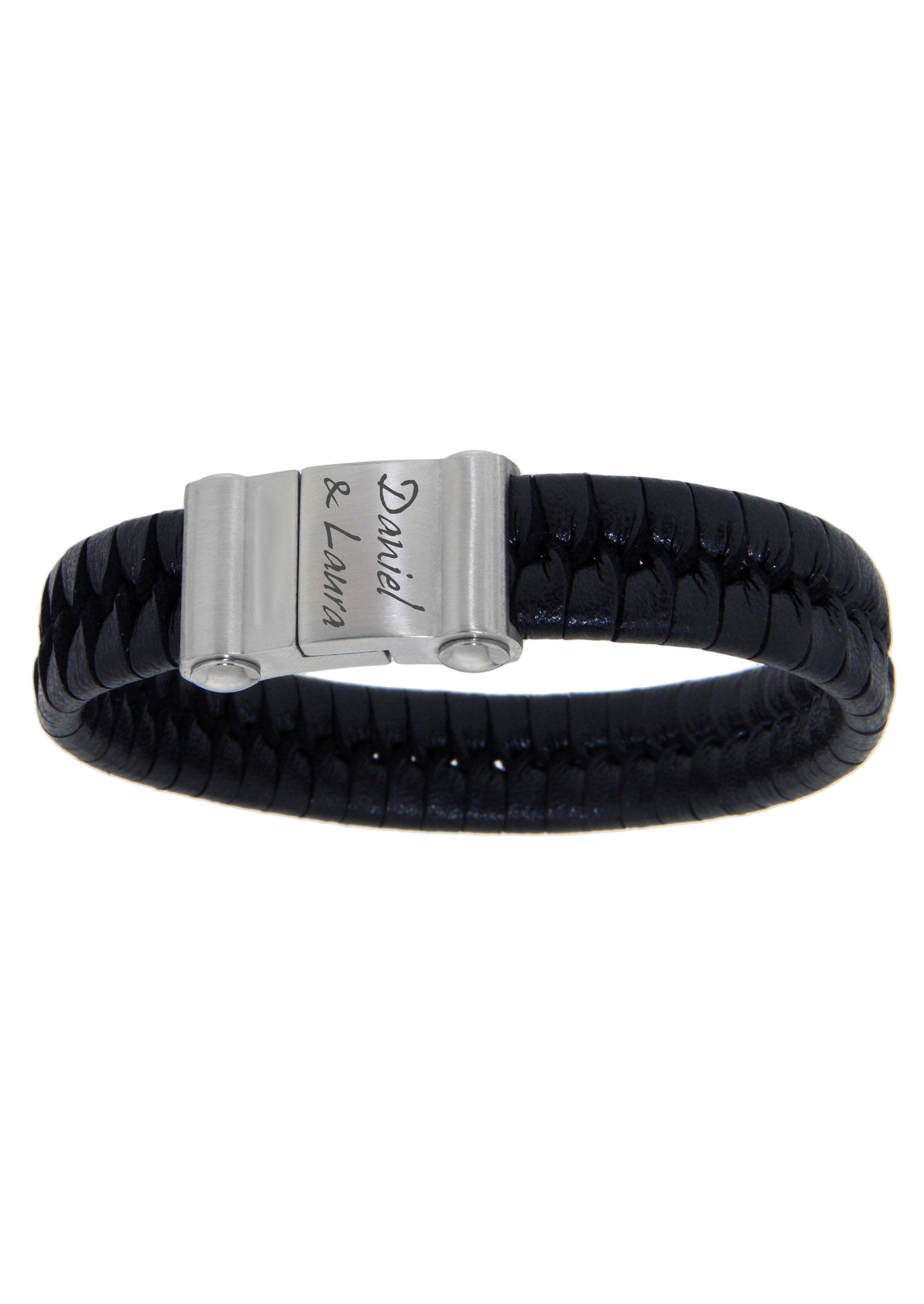 Firetti Armband mit Gravur geflochten mit gratis Gravur günstig online kaufen