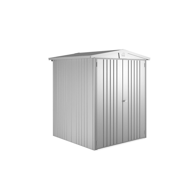 Biohort Gerätehaus Europa Größe 2 Silber-Metallic B x T: 172 cm x 156 cm günstig online kaufen