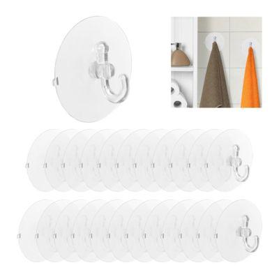 relaxdays 24 x Saugnapf Haken XL Saughaken Badhaken Kunststoff Saughalter g günstig online kaufen
