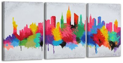 """YS-Art™ """"Gemälde Acryl """"""""Gute Laune 2"""""""" handgemalt auf Leinwand 140x70 cm"""" günstig online kaufen"""