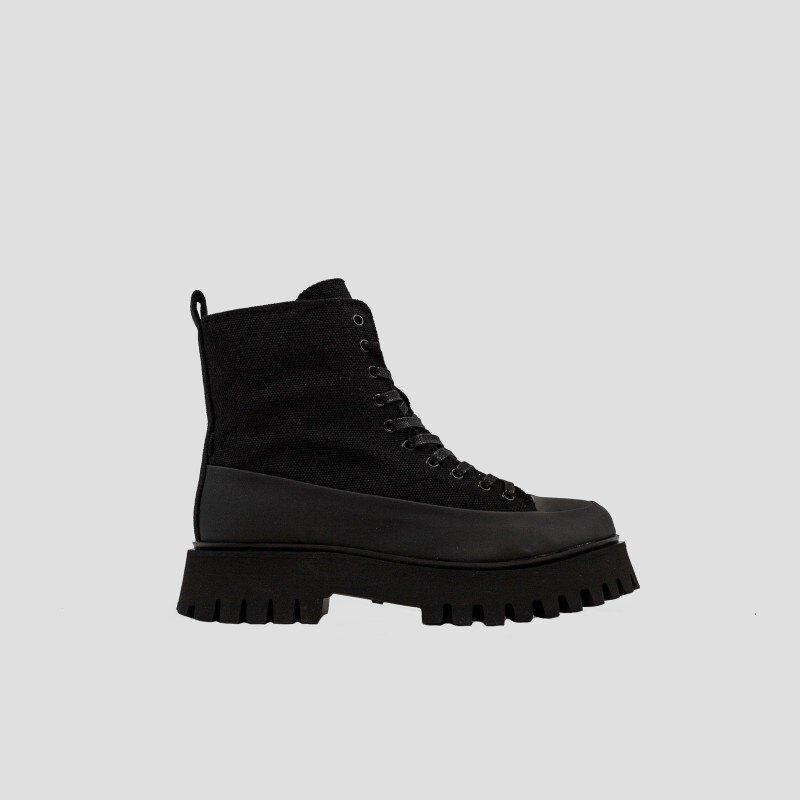 Bronx Groov-y Canvas Biker Boots EU 43 Black günstig online kaufen
