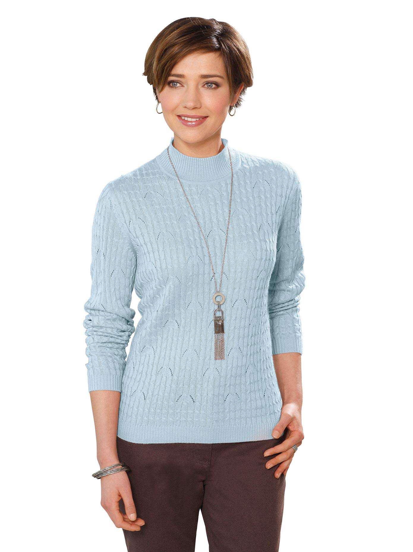 Casual Looks Stehkragenpullover Pullover günstig online kaufen