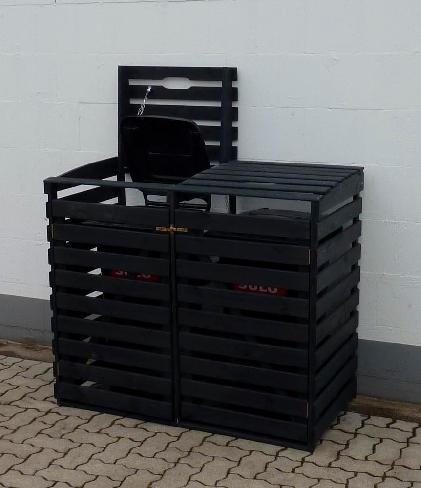 promadino Mülltonnenbox, für 2x240 l aus Holz, BxTxH: 136x92x122 cm günstig online kaufen
