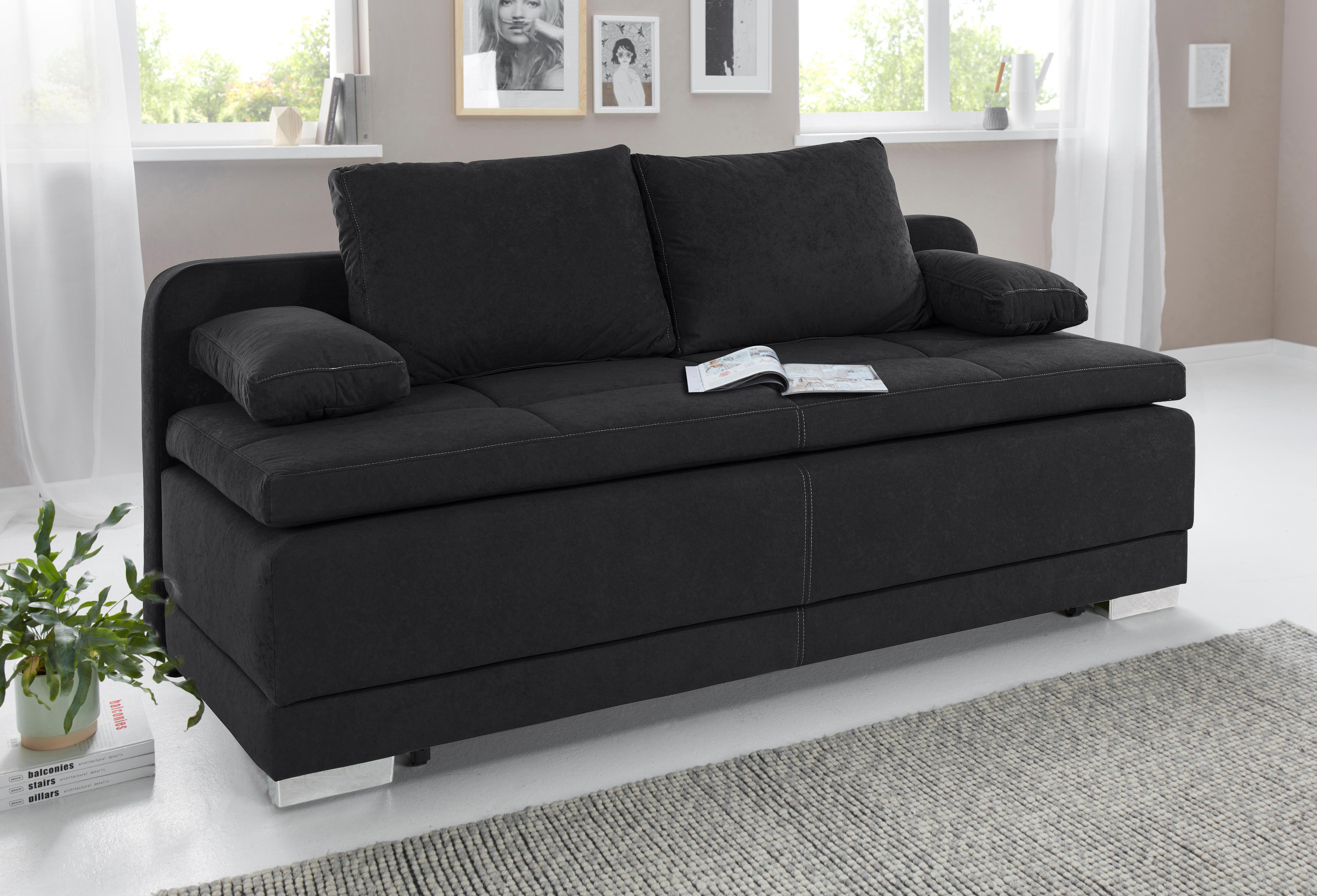 COLLECTION AB Schlafsofa, mit Bettfunktion und Bettkasten, frei im Raum ste günstig online kaufen
