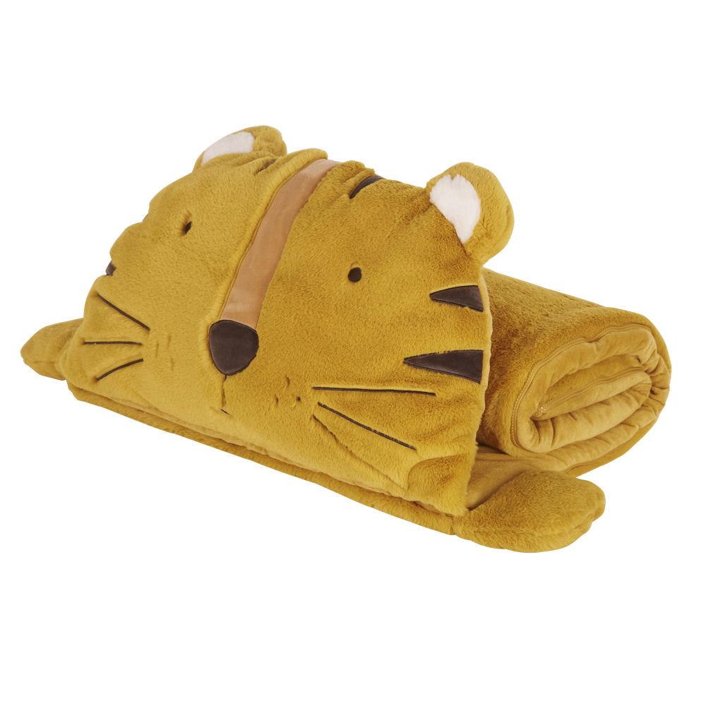 Kinderschlafsack Tiger, senfgelb, anthrazitgrau und naturweiß günstig online kaufen