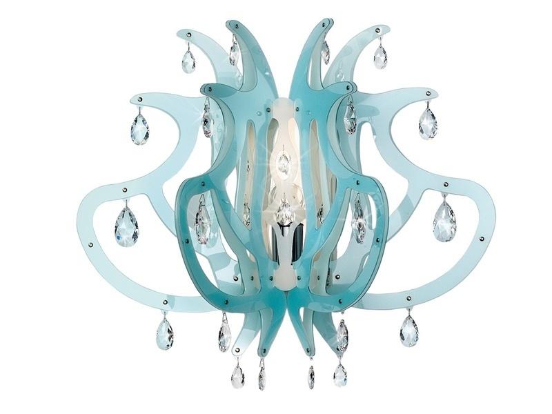 SLAMP Büro Wandleuchten Medusa, Blau, Kunststoff, MED14APP0000CT günstig online kaufen