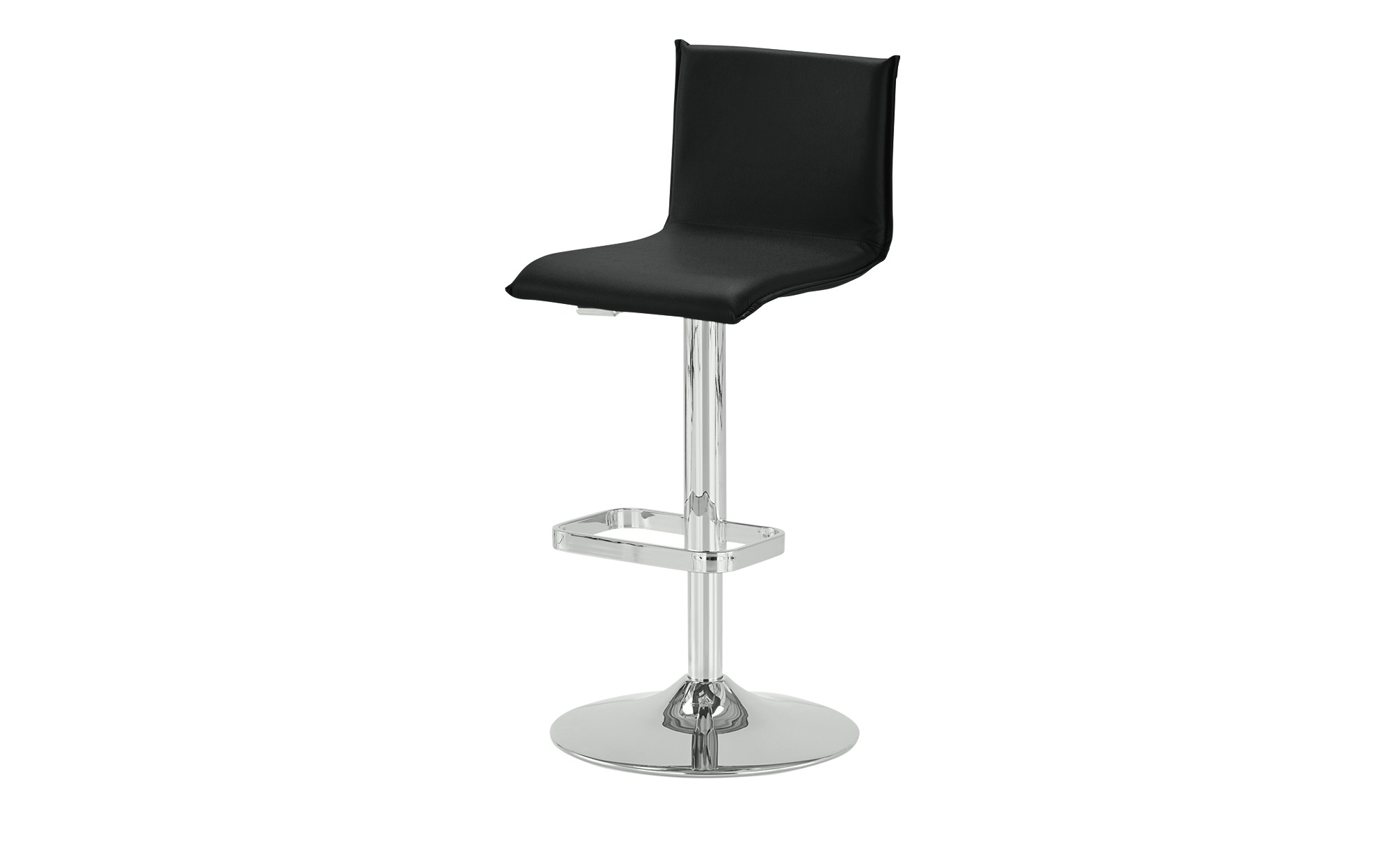 Kunstleder-Barhocker - schwarz - 44 cm - 37 cm - Stühle > Barhocker - Möbel günstig online kaufen