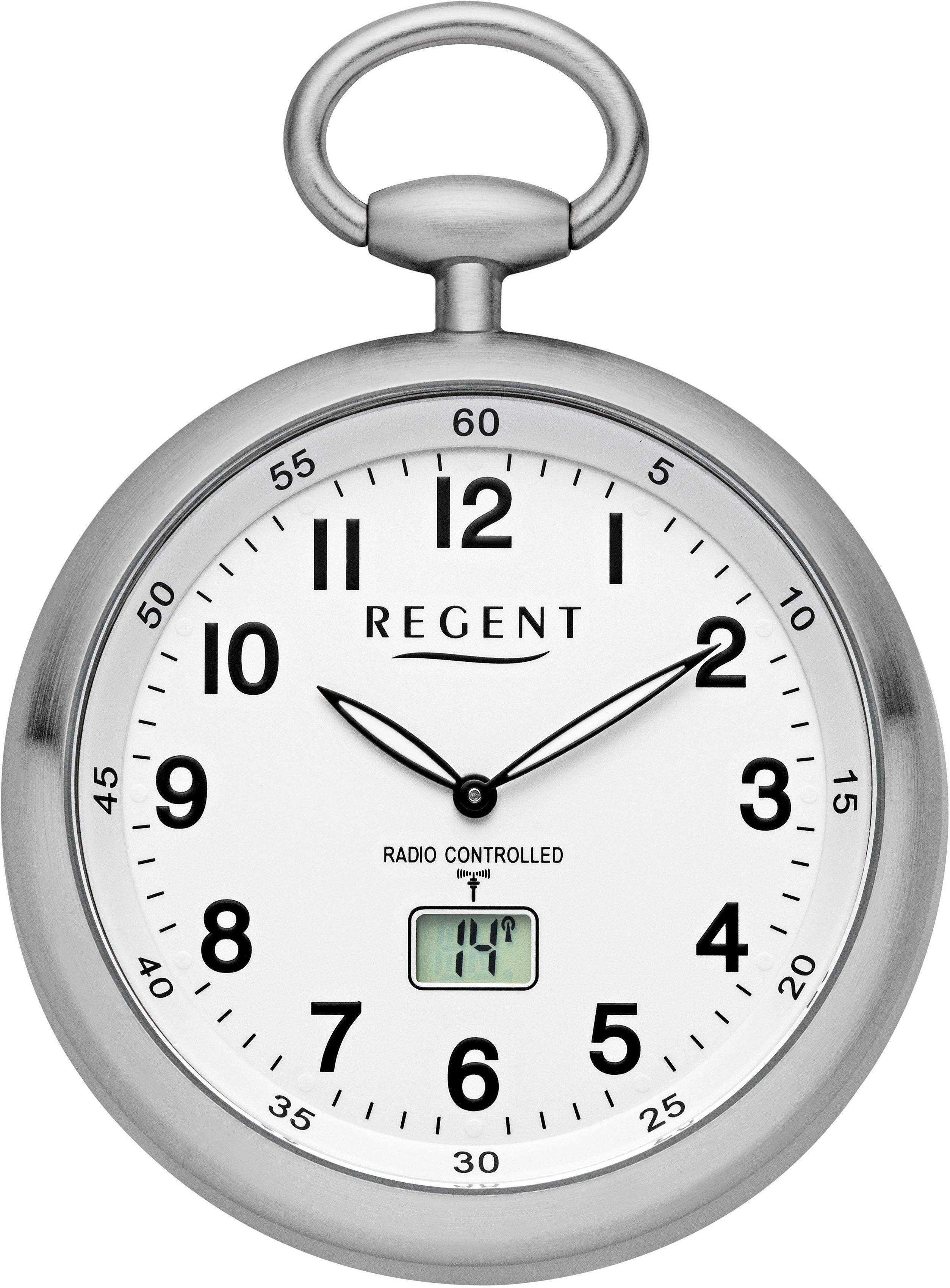 Regent Taschenuhr »11280076«, (Set, 2-tlg., inkl. Kette), mit Funkempfang i günstig online kaufen