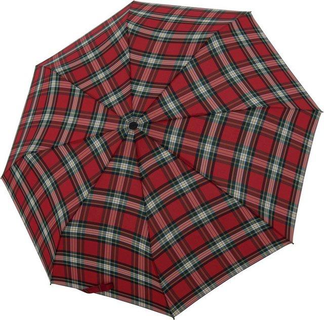 doppler® Taschenregenschirm »Carbonsteel Magic, Karo Rot« günstig online kaufen
