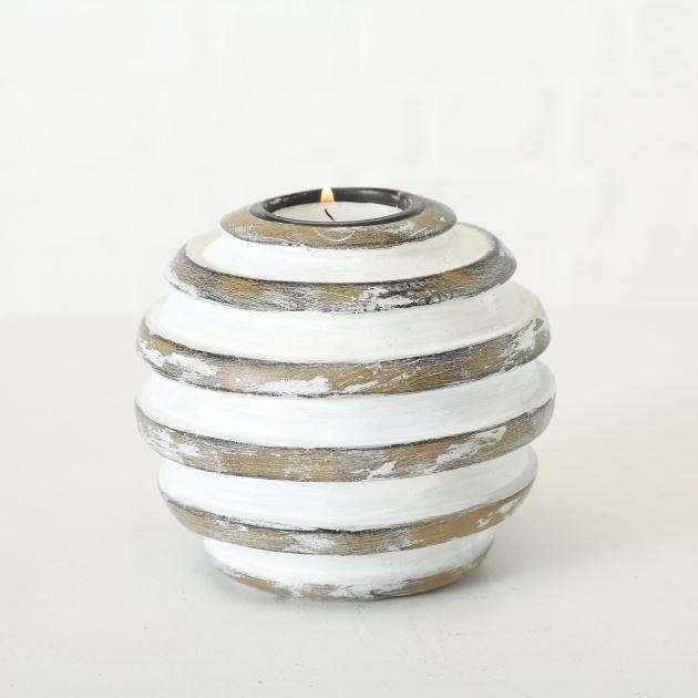 Boltze Teelichthalter Kine Teelichthalter braun 10 cm ( 1 Stück ) (braun) günstig online kaufen