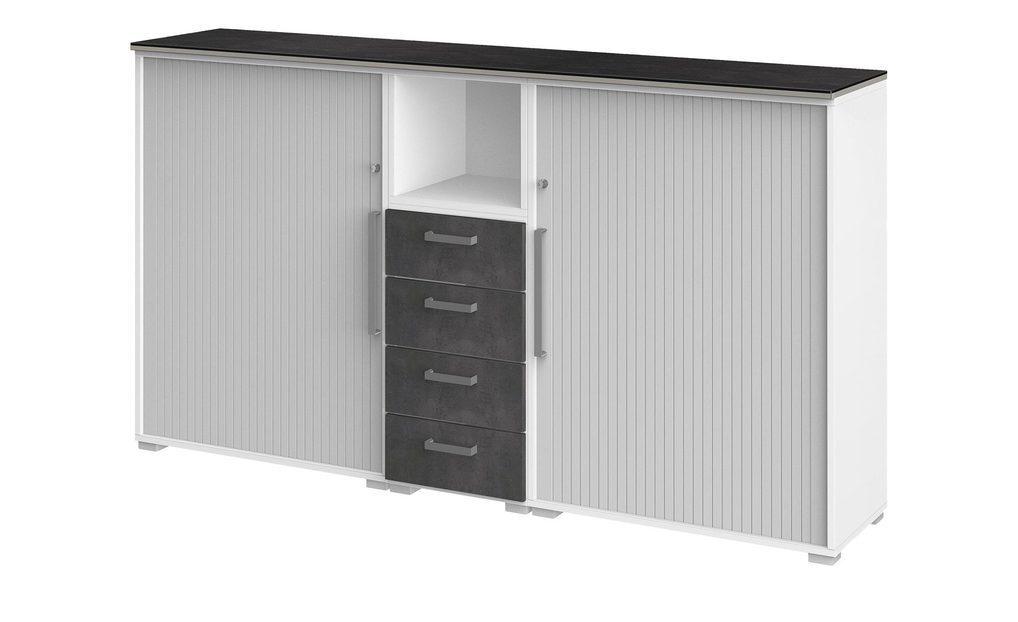 Highboard  Objekt plus ¦ grau Kommoden & Sideboards > Highboards - Höffner günstig online kaufen