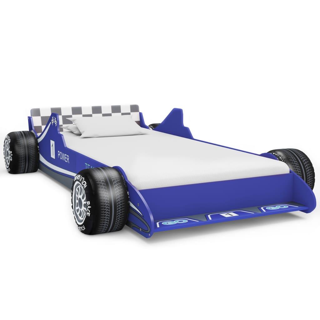 Kinderbett Im Rennwagen-design 90 X 200 Cm Blau günstig online kaufen