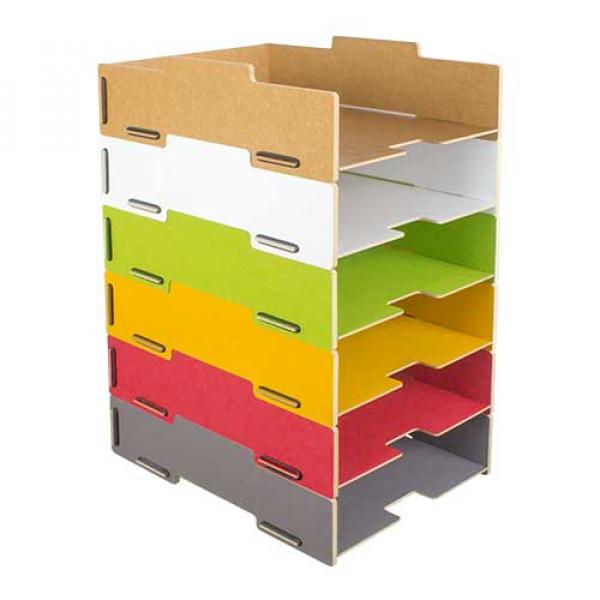 Briefablage Stapelbar Schreibtisch Organizer Ordnungssystem Ablagebox Büro günstig online kaufen