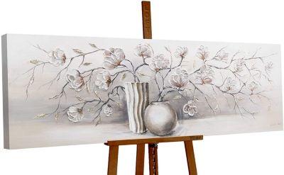 """YS-Art™ """"Gemälde Acryl  """"""""Stillleben"""""""" handgemalt auf Leinwand 150x50 cm"""" s günstig online kaufen"""