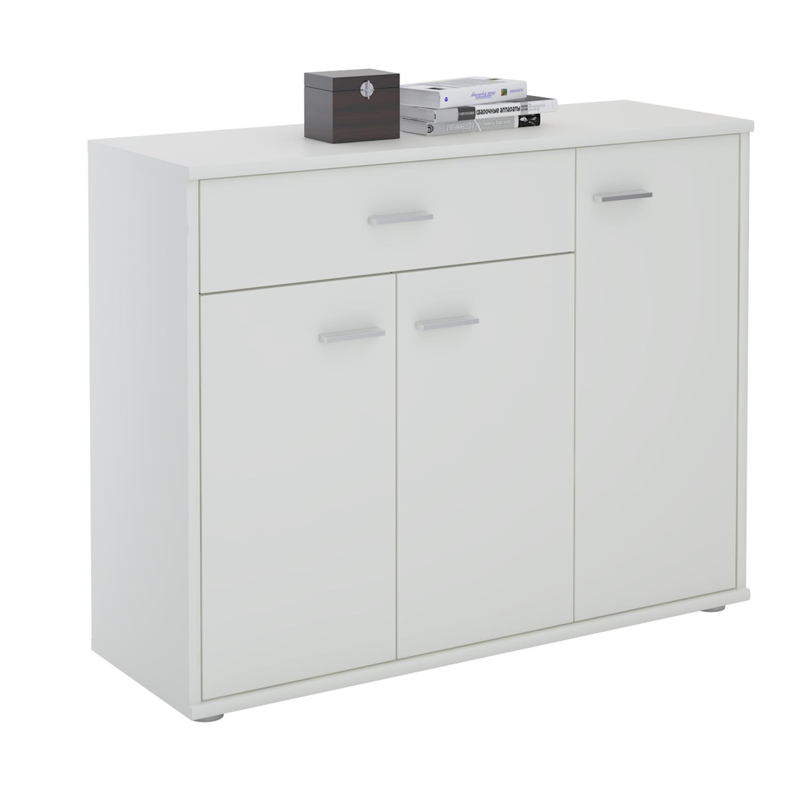 Kommode ESTELLE mit 3 Türen, 1 Schublade in weiß günstig online kaufen