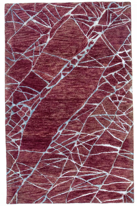 morgenland Wollteppich Designer Teppich handgetuftet braun, rechteckig, 18 günstig online kaufen